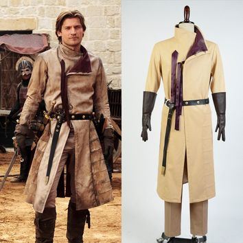Ser Jaime Lannister Full Sets Outfit Cosplay Costume Halloween Costume