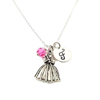 Fairy Godmother Cinderella Personalized Sterling Silver Necklace
