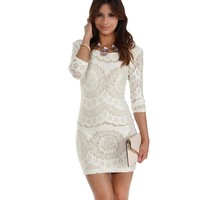 Ivory Naturally Beautiful Bodycon Dress