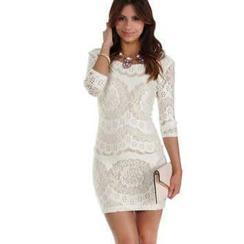 Sale- Ivory Naturally Beautiful Bodycon Dress
