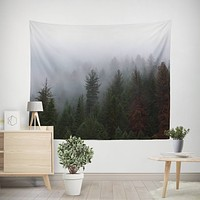 Foggy Forest Nature Wall Tapestry - 4 Sizes
