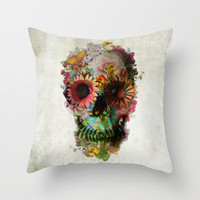 SKULL 2 Throw Pillow by Ali GULEC | Society6