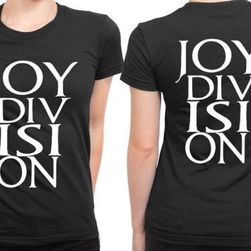 VONEED6 Joy Division Logo Larger 2 Sided Womens T Shirt
