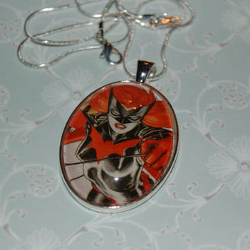 Batwoman Comic Book Jewelry  Pendant with 18 Chain by PopCycled