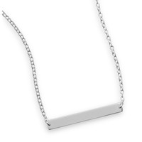 Thin Bar Nameplate Necklace