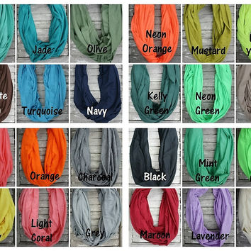 Super Soft Solid Color Infinity Scarf