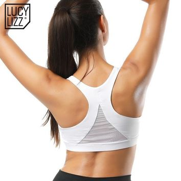 Lucylizz Back Mesh Triangle Sports Bra