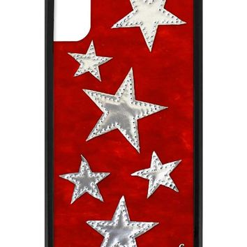 Red Velvet Silver Stars iPhone X/Xs Case