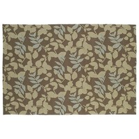 Home & Porch Wymberly Leaf Indoor Outdoor Rug (Brown)