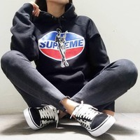 supreme hysteric glamour hooded sweatshirt