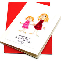 Mothers Day Card - Paper Quilling - Handmade Greetings - For Mom