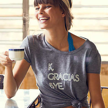 Aerie Real Soft® Graphic Tee, Fresh White