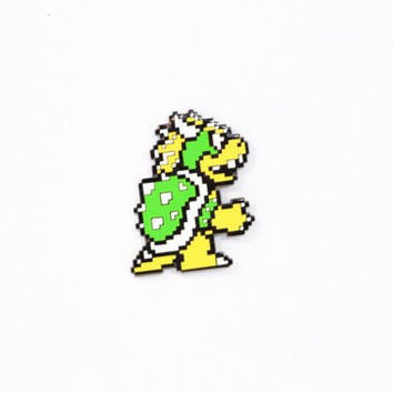 Bowser Mario Lapel Pin - Metal Pin - Nintendo, NES - Hat Pin