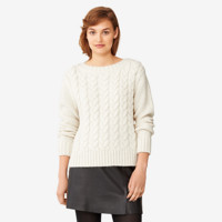 Kate Spade Saturday Boxy Cableknit Sweater