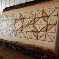Rustic Country Home Decor, Quilt Pattern, Handmade Wood Art Sign