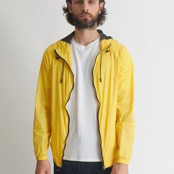 The Idle Man Lightweight Hooded Windbreaker Yellow