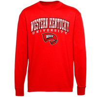 Western Kentucky Hilltoppers Midsize Arch Over Mascot Long Sleeve T-Shirt - Red
