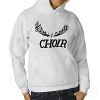 Embroidered Music Choir Hoodie from Zazzle.com