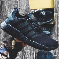 """Adidas"" Women Men Trending NMD Running Sports Shoes Black"