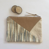 PATCHWORK CLUTCH/Chic Clutch/Ethnic bag/Linen Clutch/Linen Handbag/Ethnic Clutch/Birhtday Gift For Her
