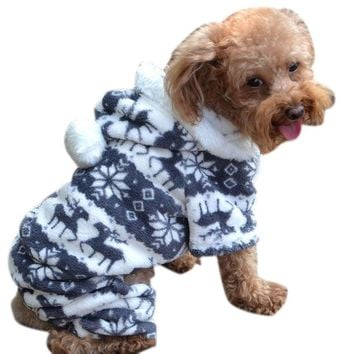 Bessky(TM) Doggy Apparel,New Stylish Pet Dog Warm Clothes Puppy Jumpsuit Hoodie Coat (M, Coffee)
