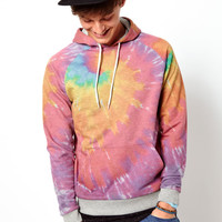 ASOS | ASOS Hoodie With Tie-Dye Print at ASOS