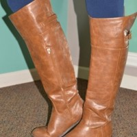 Styling and Overhauling Riding Boots - Cognac: Abella Boutique