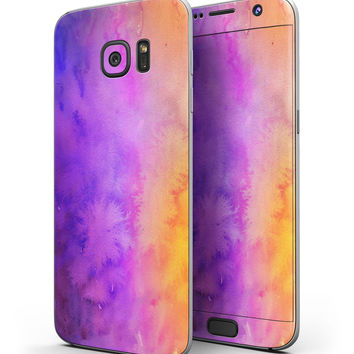 Washed 821 Absorbed Watercolor Texture - Full Body Skin-Kit for the Samsung Galaxy S7 or S7 Edge