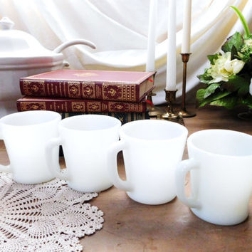 Fire King Milk Glass Coffee Mugs