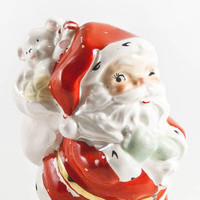 Vintage Santa Claus Bank, 1950s 60s Winking Santa Kitsch Christmas Decor