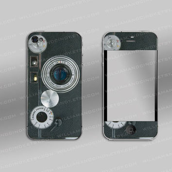 Iphone 4s Decal cover - Vintage Camera