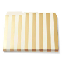 Kate Spade Gold Stripe File Folders, Letter Size, Set of 6