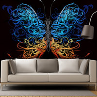 Large Swirl Butterfly Wall Graphic Mural #6024