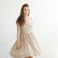 CIJ Sale 50% OFF Summer Cocktail Dress, Baby Doll  Dress Beige
