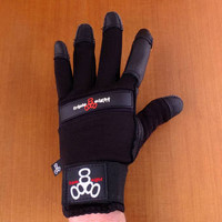 Triple 8 Downhill Extra Small Black Slide Gloves