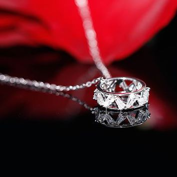 Fall in Love Ring Necklace - LilyFair Jewelry