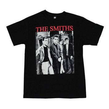 Smiths Rock Band Graphic T-Shirt Red Logo Printed T Shirt Short Sleeve T-Shirt Tops