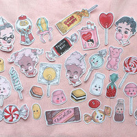 candy store sticker set ~ 25 pack