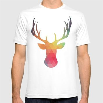 Abstract Stag T-shirt by Justin Chou