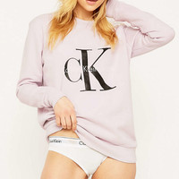 Calvin Klein Jeans Pink Sweatshirt - Urban Outfitters