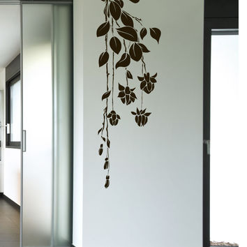 Vinyl Wall Decal Sticker Hanging Flowers #1016