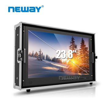 "23.8"" 3840x2160 Broadcast Monitor 3G SDI 4K Ultra HD Monitor SDI HDMI TALLY Director Monitor for Camera"