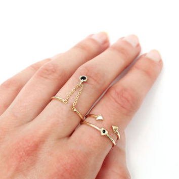 Thin gold rings - Stacking rings - Tiny rings - Gold rings