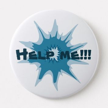 Blue bullet hole. Add your text. Button