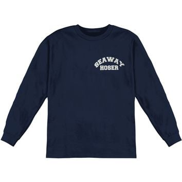 Seaway Men's  Hoser Navy  Long Sleeve Navy Rockabilia