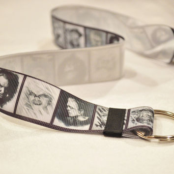 Movie monsters keychain and lanyard Ready To Ship