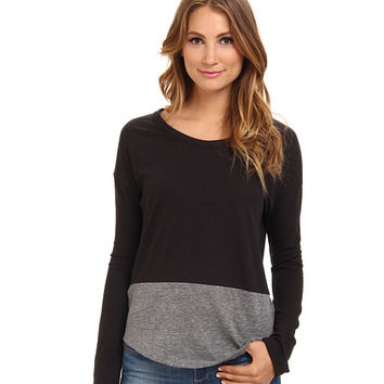 Alternative L/S Eco Jersey T-Shirt Eco True Black/Eco Grey - Zappos.com Free Shipping BOTH Ways