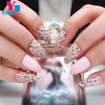 24pcs/lot Artificial Nails Full Cover Fake Nails For Nail Design Nail Tips Unhas Posticas Printed Pointed Various models Fashion