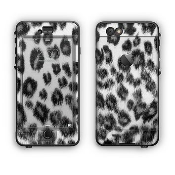 The Real Snow Leopard Hide Apple iPhone 6 LifeProof Nuud Case Skin Set