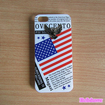 America flag iPhone 5 case,USA iPhone 5 Case,USA Flag iPhone 5 Case,America flag case cover, Designer iPhone case, flag case for iPhone,D003